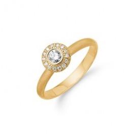 SARA 14 kt Guld ring m. diamanter-20