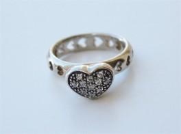 Smuk sølvring med hjerter og zirk.-20