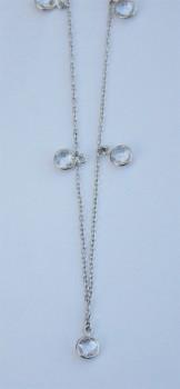 sølv halskæde med kvarts-20