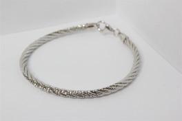 Snoet sølv armbånd-20