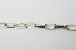 Sølv lænke med lange ovaler-20