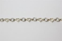 sølv lænke med hjerter og cirkler-20