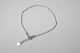 Sølv armlænke med hjerte-20