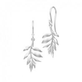 TREE OF LIFE øresmykker små sølvrhodineret-20