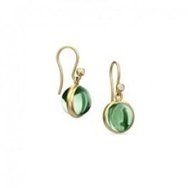 PRIME ørehængere med grøn krystal-20