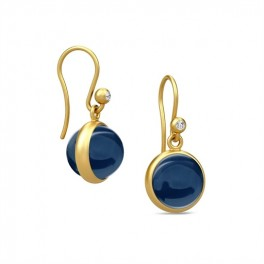 PRIME ørehængere med safirblå krystal-20