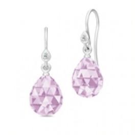BALLERINA ørehængere lavender krystal sølv-20