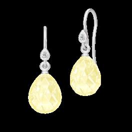 BALLERINA ørehængere lemon krystal sølv-20