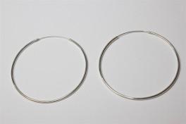 Sølv creoler tynde, 50 mm-20