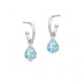 EVENING DEW sølv ørestik med blå krystal-20