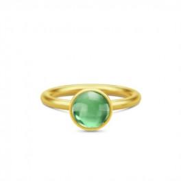 Primini Forgyldt Ring Grøn-20