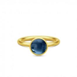 Primini Forgyldt Ring Safir Blå-20