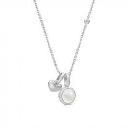 LUNA sølv collie med 2 vedhæng-20