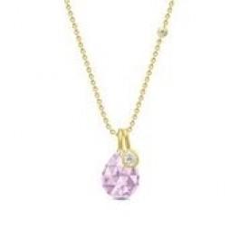 BALLERINA halskæde lavender krystal-20