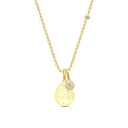 BALLERINA halskæde lemon krystal-20