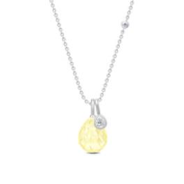 BALLERINA halskæde lemon krystal sølv-20