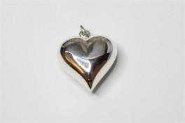 Hjerte vedhæng i sølv, x-large-20