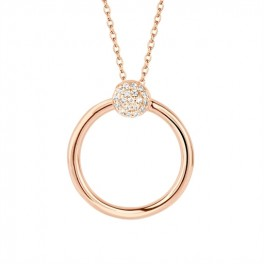 Perfection halskæde 45 cm rosa forgyldt-20