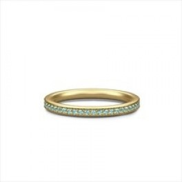 INFINITY forgyldt ring med grønne krystaller-20