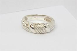 Snoet sølv ring-20