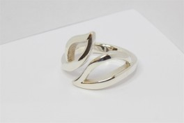 Sølv ring med blade-20