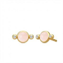 PRIME ørestikker med rosa krystal-20