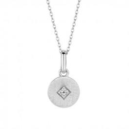 Shine halskæde 45 cm sølv-20