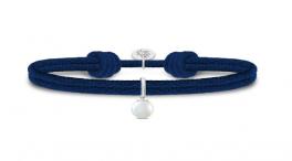 PERLA sølv armbånd, mørkeblå-20