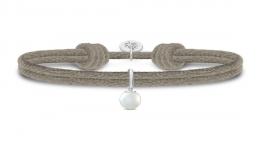 PERLA sølv armbånd, sandfarvet-20