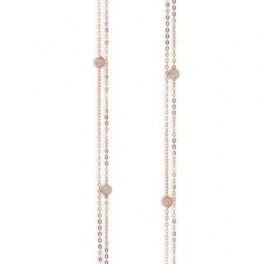 c10037,90 rosa halskæde med kvarts-20