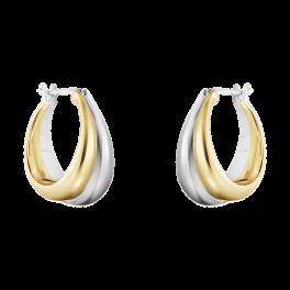 CURVE 18 kt. store øreringe-20