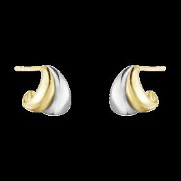 CURVE 18 kt. små øreringe-20