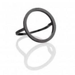 Oxyderet ring med cirkel-20