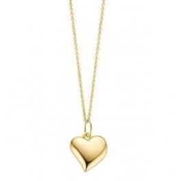 Heart halskæde, rødguld-20