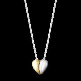 HEARTS 18 kt. halskæde, todelt-20