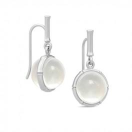 BAMBOO Sølv ørehængere med perlemorskvarts-20