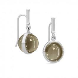 BAMBOO Sølv ørehængere med pyritkvarts-20