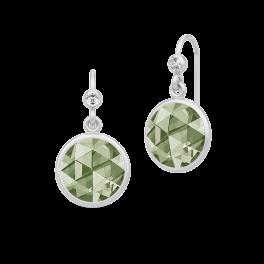 COCKTAIL sølv ørehængere, grøn-20