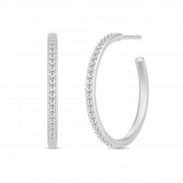 INFINITY sølv creoler-20