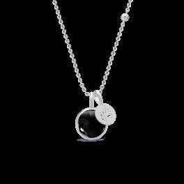 PRIME sølv halskæde, sort-20