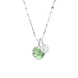 PRIME sølv halskæde, grøn ametyst-20