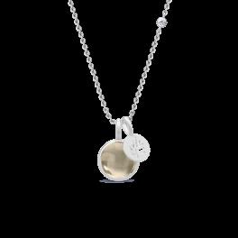 PRIME sølv halskæde, røgfarvet-20