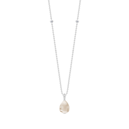 BLOOM sølv halskæde, nude krystal-20