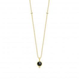 MOON halskæde, sort onyx-20