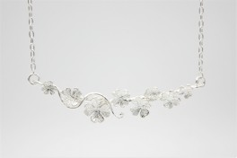 Flower halskæde i sølv-20