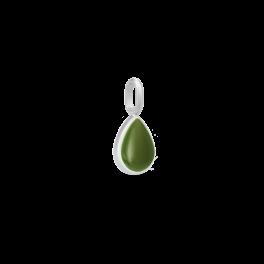 POETRY sølv vedhæng, grøn-20