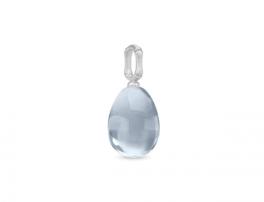 BAMBOO sølv vedhæng, blå-20