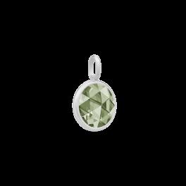 COCKTAIL sølv vedhæng, støvet grøn-20
