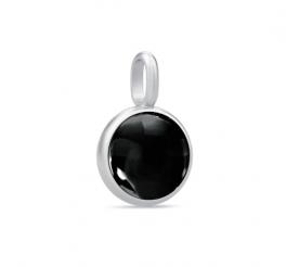 PRIME sølv vedhæng, sort-20