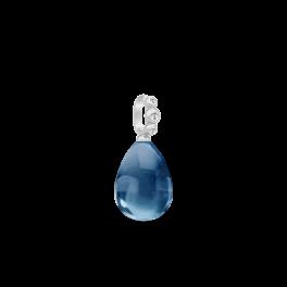 BLOOM sølv vedhæng, safirblå krystal-20